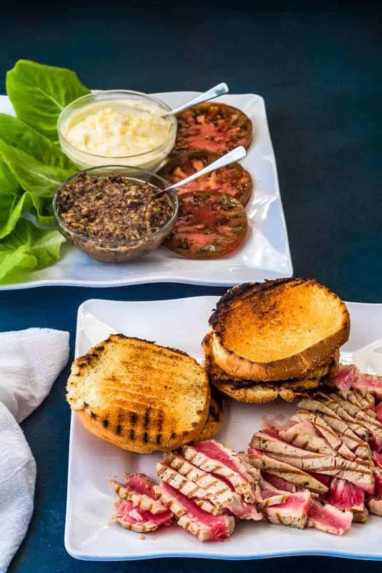 Tuna Nicoise Sandwich Components