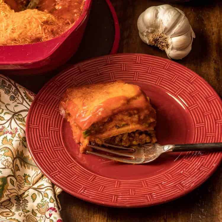 New Mexico Gluten-Free Red Chile Sauce Enchiladas Serving