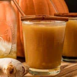 Pumpkin Kentucky Mule with Ginger and Spice