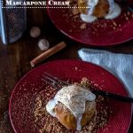 Streusel Baked Apples with Bourbon Vanilla Mascarpone Cream -