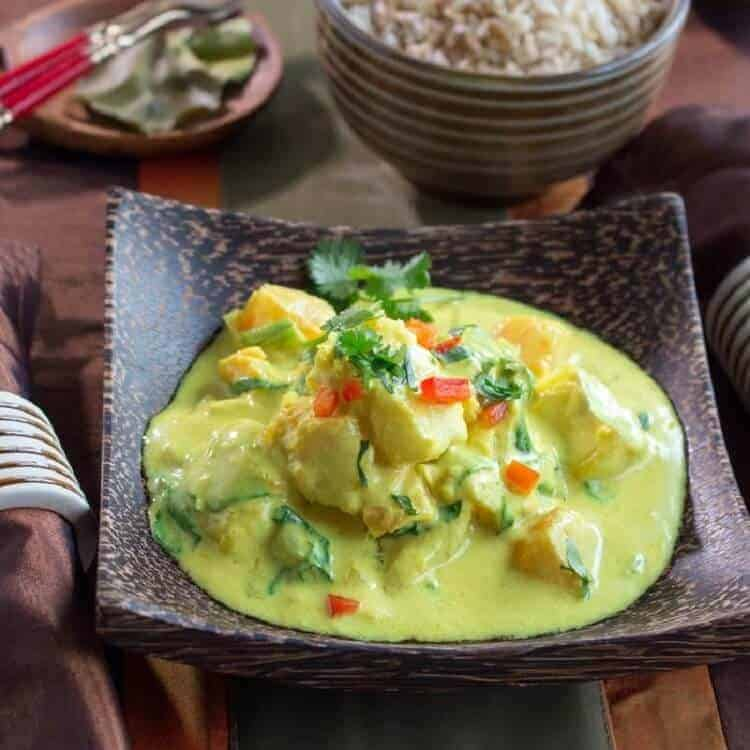 Coconut Halibut Curry