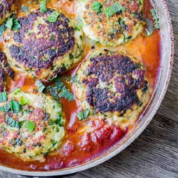 Ottolenghi's Cod Cakes in Tomato Sauce