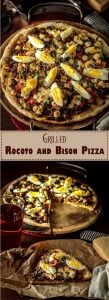 Grilled Rocoto and Bison Pizza Long Pin -