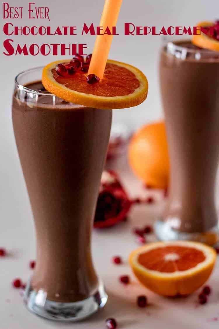 Best Ever Chocolate Meal Replacement Smoothie