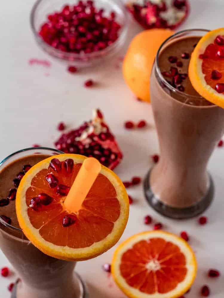Best Ever Chocolate Meal Replacement Smoothie Bird's Eye