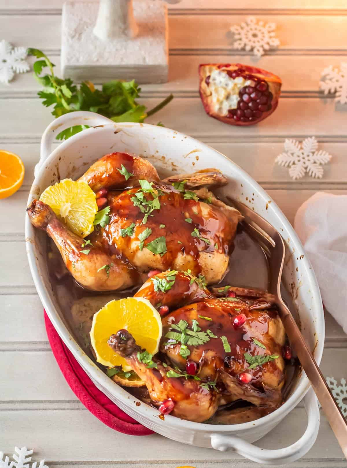 Festive Mexican Cornish Hens for Two Hero Image