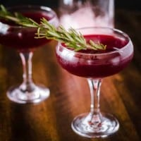 Savory Gin Cocktail with Cynar and Beet Juice
