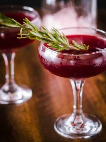 Savory Gin Cocktail with Cynar and Beet Juice Feature Image