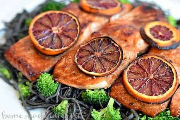Blood-Orange-Glazed-Salmon Closeup