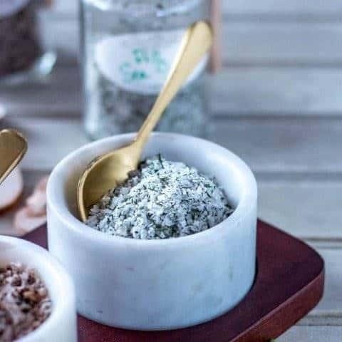 DIY Dill Finishing Salt
