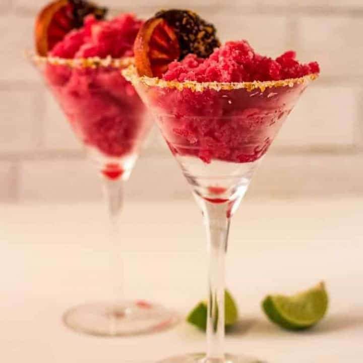 Blood Orange Margarita Sorbet Feature Image