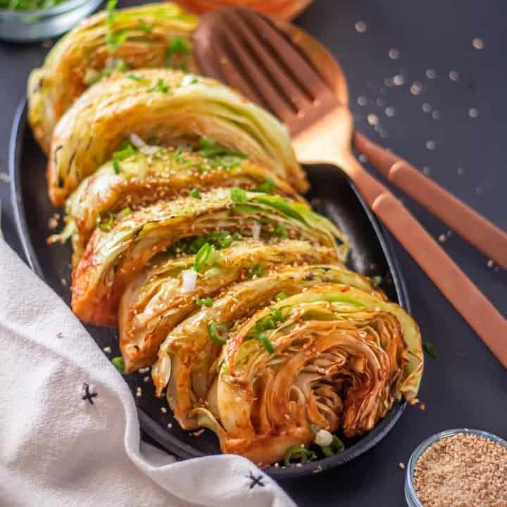 Grilled Cabbage Wedges with a Korean Glaze Feature Image