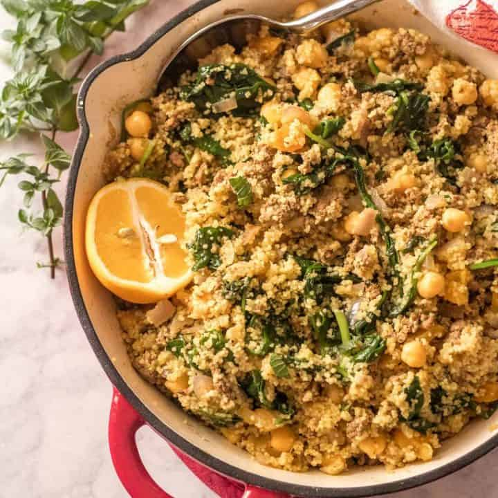 Easy One Pot Ground Lamb and Couscous Feature Image