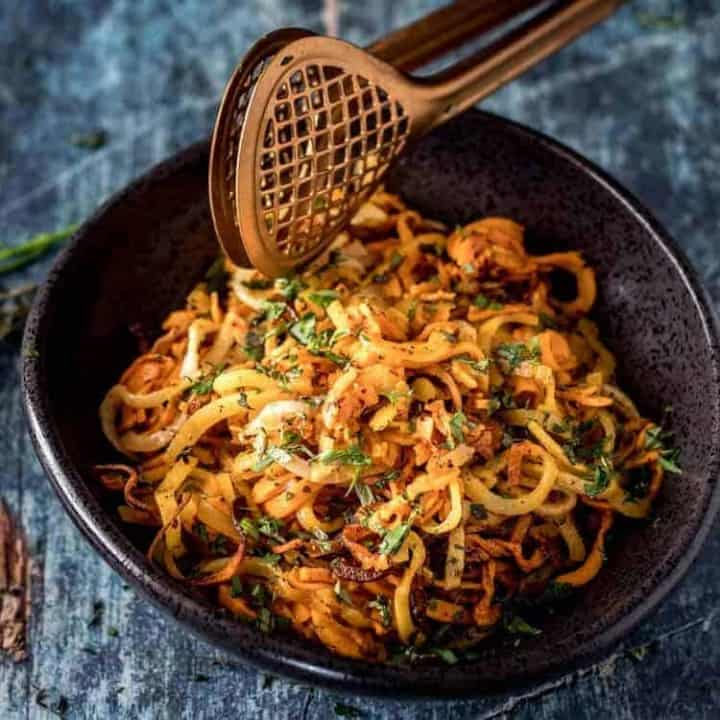 Quick Spiralized Root Vegetables