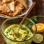 Mexican-Inspired Hummus with Avocado Feature Shot