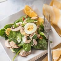 Classic Spinach Salad with Honey Dijon Vinaigrette