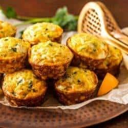 Mediterranean Rice and Chick Pea Mini-Frittatas