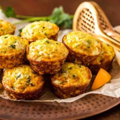 Mediterranean Rice and Chick Pea Mini-Frittatas Vegetarian and Gluten Free