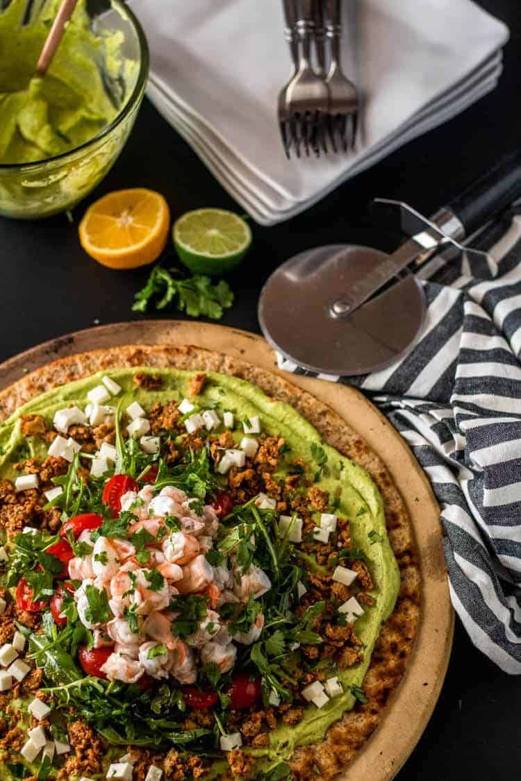Mexican Shrimp Ceviche Flatbread Hero Image