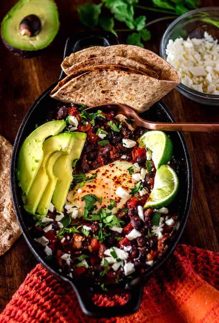 Mexican Black Bean Shakshuka Hero Image