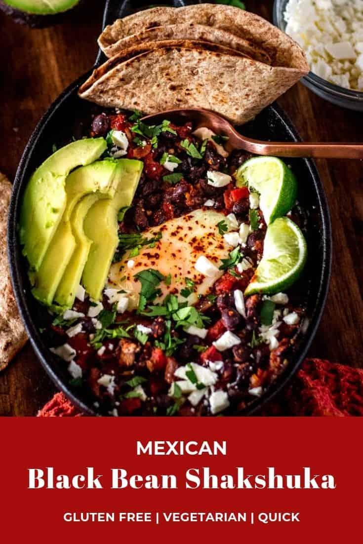 Mexican Black Bean Shakshuka Pin
