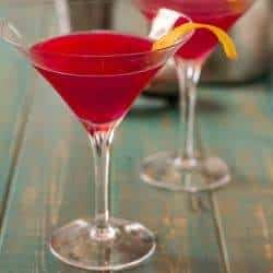 Ginger Hibiscus Martini or Mocktail