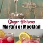 Ginger Hibiscus Martini / www.beyondmeresustenance.com