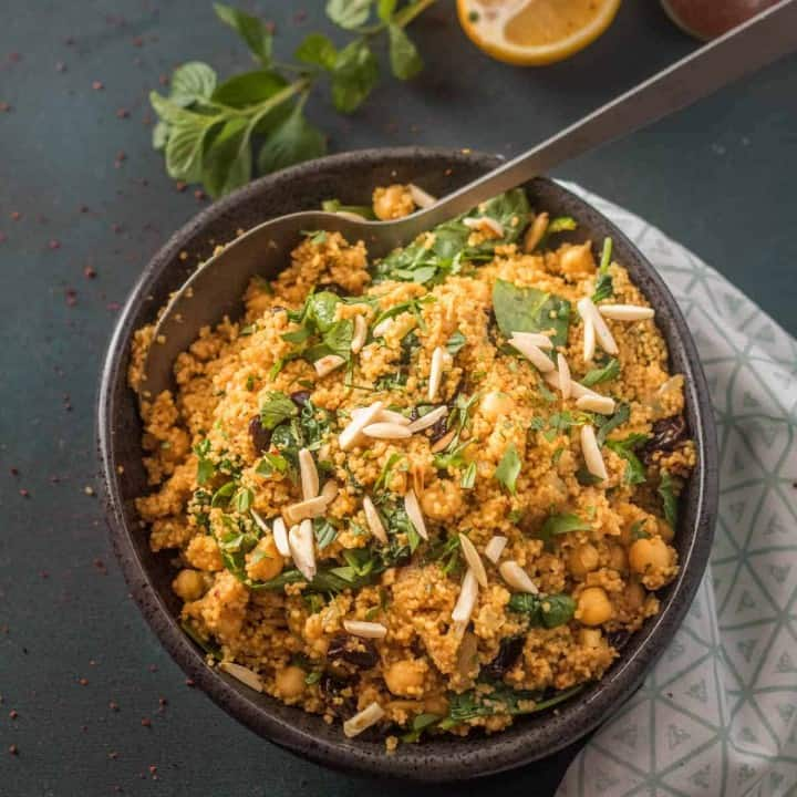 Vegan Moroccan Couscous With Chick Peas Beyond Mere Sustenance