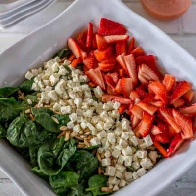 Red White and Green Salad with Citrus-Strawberry Vinaigrette