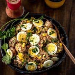 Grilled Potato Salad Moroccan Style