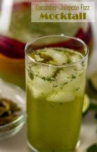 """When it's hotter than blazes, you don't want alcohol, and iced tea just won't """"cut it""""....Jalapeño-Cucumber Fizz Mocktail is a refreshing alternative! This mocktail can be made 2 ways: No-heat simple syrups, or traditional cooked simple syrup. Mocktails 