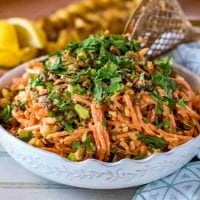 Moroccan Carrot Salad with Chick Peas and Feta