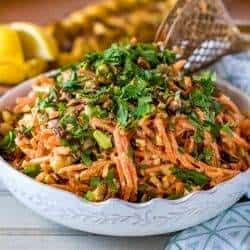 Moroccan Carrot Salad with Chickpeas and Feta