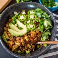 Low Carb Mexican Cauliflower Rice Bowls