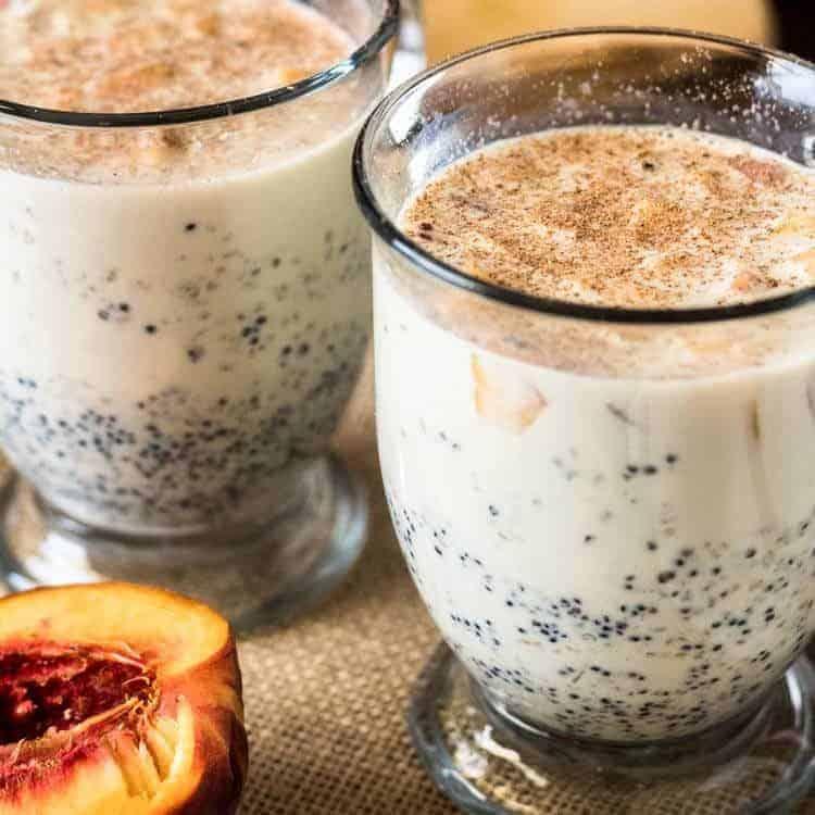 Peruvian Quinoa Porridge with Peaches