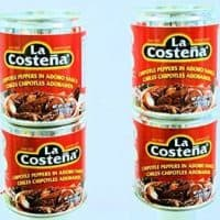 La Costena Chipotle Peppers in Adobo Sauce 7oz. Cans (4 Pack)