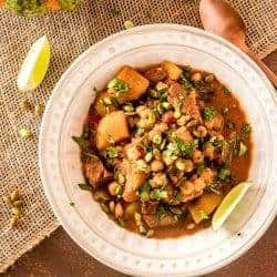 Mexican Pumpkin Stew with Pork and Hominy (Instant Pot or Stove Top)