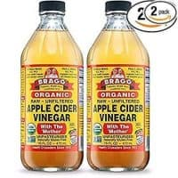 Bragg USDA Organic Raw Apple Cider Vinegar, With The Mother 16 Ounces Natural Cleanser, Promotes Weight Loss - Pack of 2