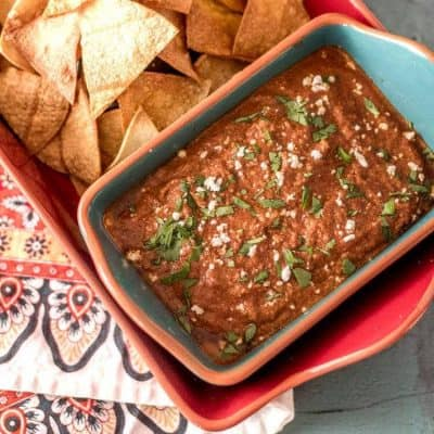Red Chile and Toasted Pumpkin Seed Salsa feature image.