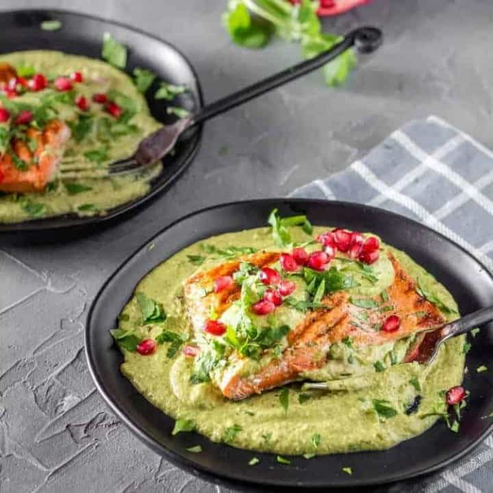 Fish in Tomatillo Cream Sauce square feature image.