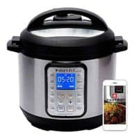 Instant Pot Smart WiFi 6 Quart Electric Pressure Cooker, Silver