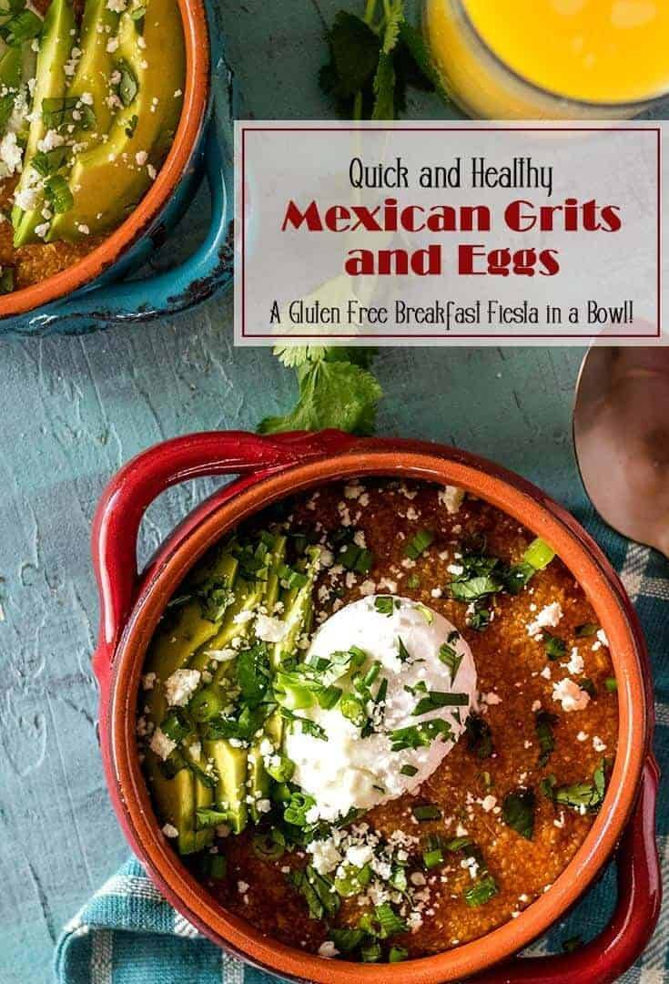 Lean chorizo and creamy grits? Yes please! 3 ingredients (plus salt) are all it takes for the base for this delicious breakfast... The Healthy Mexican Grits Breakfast Bowls get an egg cooked to order and your choice of fresh and healthy Mexican toppings. A fiesta in a bowl! #glutenfree #gritsrecipes #breakfastbowl #chorizogrits #Mexican #leanchorizo #gritsbowls #savorybreakfastbowl #breakfastgrits
