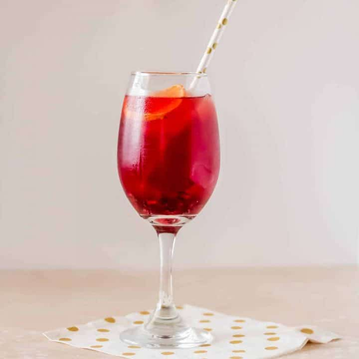 Tequila Cocktail with Blood Orange and Pomegranate