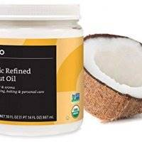 Amazon Brand - Solimo Organic Coconut Oil, Refined, 30 ounce