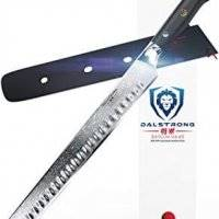 "DALSTRONG Slicing Carving Knife - 12"" Granton Edge - Shogun Series - AUS-10V- Vacuum Treated - Sheath"