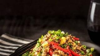 Quinoa Chaufa (Peruvian Wok-Fried  Quinoa)