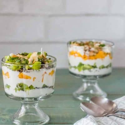 Easy Breakfast Parfait with Toasted Quinoa and Tropical Fruit