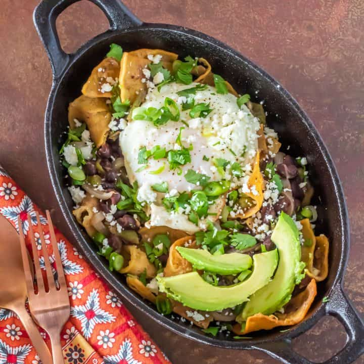Green Chile Chilaquiles
