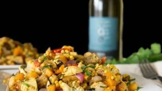Moroccan Couscous Salad With Grilled Veggies and Chicken
