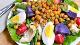 Spring Salad with Lemon Basil Vinaigrette